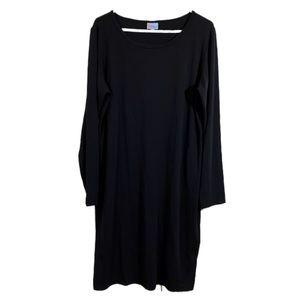 LuLaRoe Solid Black Debbie Dress sz 2XL